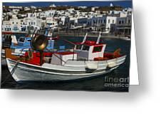 Enchanted Spaces Mykonos Greece 1 Greeting Card