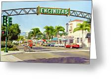 Encinitas California Greeting Card by Mary Helmreich