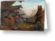 Encounter At Grizzly Pass Greeting Card