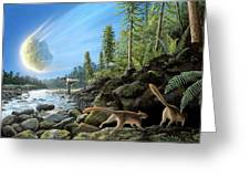 End Of Cretaceous Kt Event Greeting Card