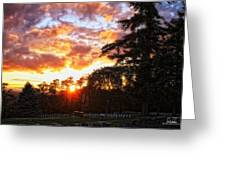 End Of Day In Time Greeting Card by Dan Quam