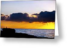 End Of Day On The Pacific Greeting Card