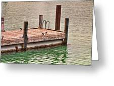 End Of Small Pier Greeting Card