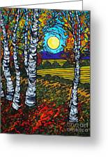End Of Summer Birches Greeting Card