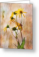 End Of Summer Bouquet Greeting Card