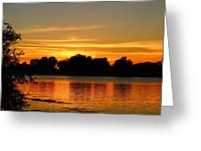 End Of Summer Sunset Greeting Card