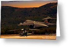 End Of The Day Departure Greeting Card