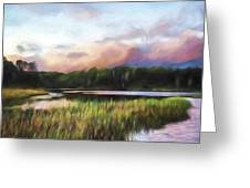 End Of The Day - Landscape Art Greeting Card