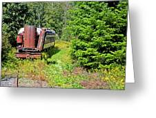 End Of The Line Greeting Card