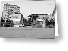 End Of The Line In Black And White Greeting Card