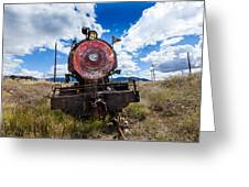 End Of The Line - Steam Locomotive Greeting Card