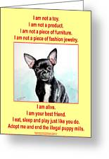 End The Puppy Mills Greeting Card