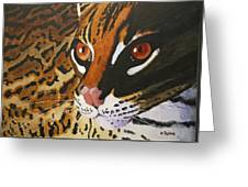 Endangered - Ocelot Greeting Card