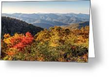Endless Autumn Mountains Greeting Card