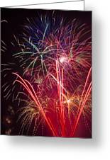 Endless Fireworks Greeting Card by Garry Gay