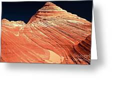 Endless Lines In Sandstone Greeting Card