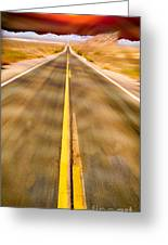 Endless Road Greeting Card