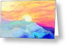 Endless Sea At Sunrise Greeting Card