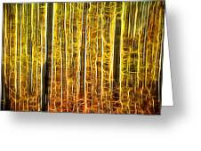 Energy Of The Forest Autumn Color Greeting Card