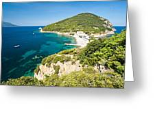 Enfola Beach - Elba Island Greeting Card