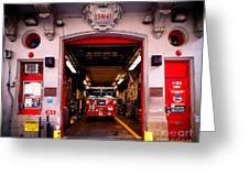 Engine Company 65 Firehouse Midtown Manhattan Greeting Card by Amy Cicconi