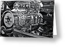 Engine Envy Greeting Card by Linda Bianic