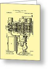 Engine Patent 1920 Greeting Card