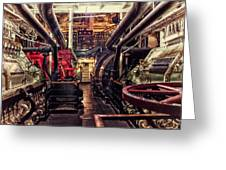 Engine Room Queen Mary 02 Greeting Card