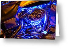Engine Shimmer Greeting Card