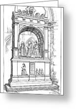 England Church Monument Greeting Card