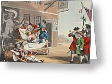 England, Illustration From Hogarth Greeting Card
