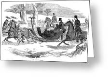 England Royal Sledge, 1854 Greeting Card