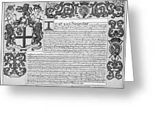 England Trade Charter Greeting Card