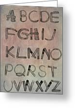 English Alphabet Music Sheets  Greeting Card