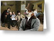 English Bulldog Art - The Latest News Greeting Card