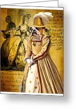 English Bulldog Art Canvas Print  Greeting Card