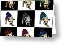 English Bulldog Dog Art - 1368 - V1 - M Greeting Card