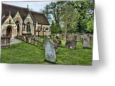 English Church Yard Greeting Card