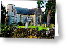 English Churchyard Greeting Card