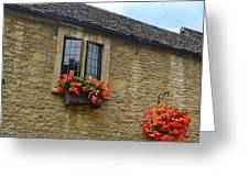 English Cottage Flower Box Greeting Card