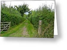English Footpath Greeting Card