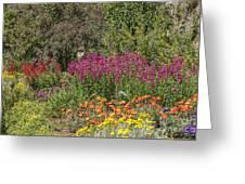 English Garden In Summertime Greeting Card