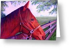 English Horse Greeting Card by Lorraine Foster