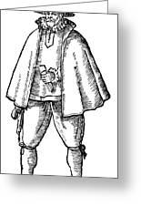 English Merchant, 1598 Greeting Card