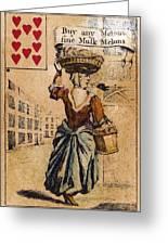 English Playing Card, C1754 Greeting Card
