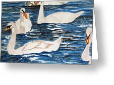 English Swan In The Queen's Garden Greeting Card