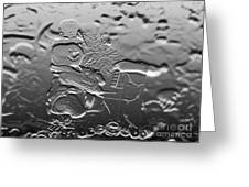 Engraved Snowman Playing The Piano Greeting Card
