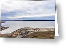 Enid Lake - Winter Landscape Greeting Card