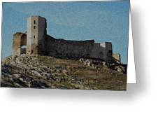 Enisala Fortress Canvas Greeting Card