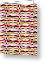 Enjoy Bliss Of Artistic Sensual Aura Lips  Kiss Romance Pattern Digital Graphic Signature   Art  Nav Greeting Card